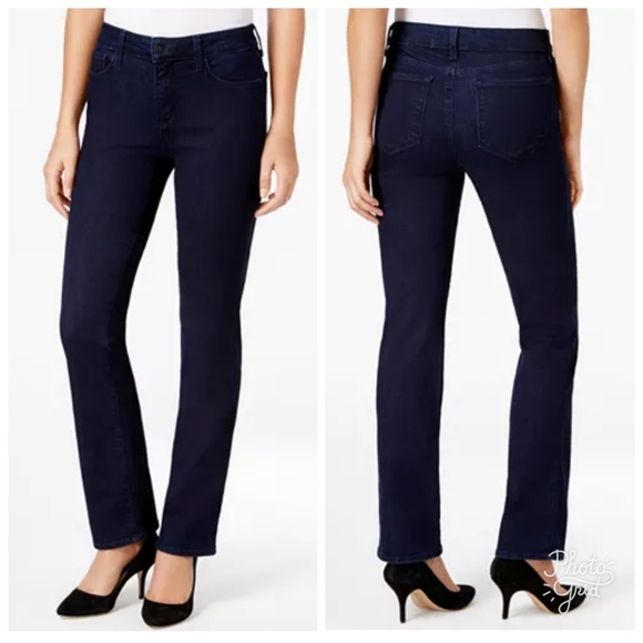 NYDJ Denim - NYDJ Marilyn Straight Dark Wash Jeans